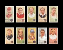 CIGARETTE CARDS SPORTSMEN Jockeys Footballers Tennis